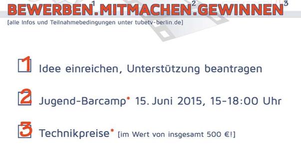 Jetzt noch schnell fürs BARCAMP anmelden - die Infoveranstaltung des JuMP-Förderfonds